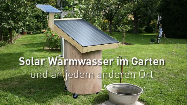 Der Alm- und Gartenwichtel für solar Warmwasser im Garten